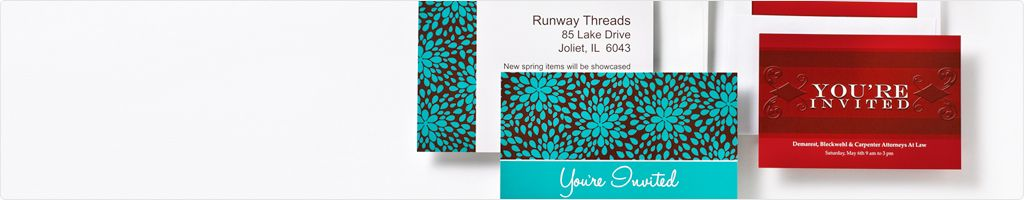 Invitation Cards design template gallery