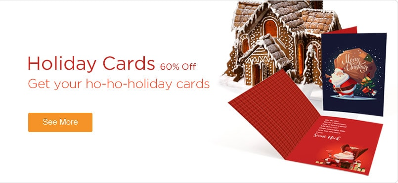 50% Off Holiday Cards Printing