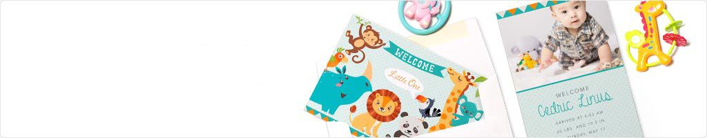 60% Off Birth Announcement cards Printing