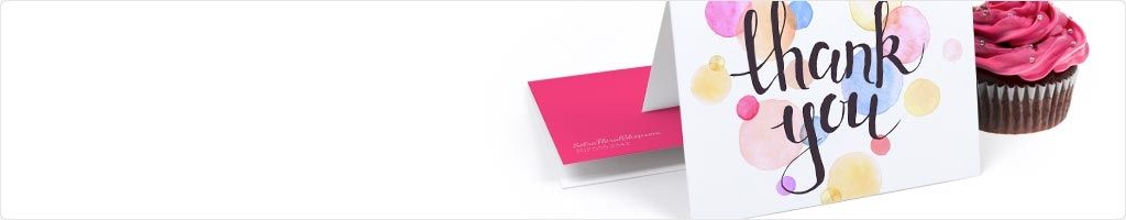 60% Off Folded Thank You Card Printing
