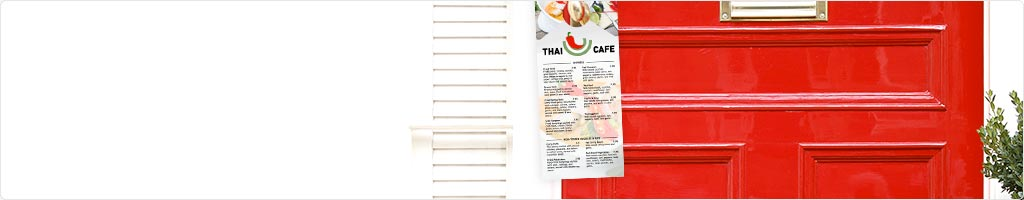 Restaurant & Food Door Hanger Printing