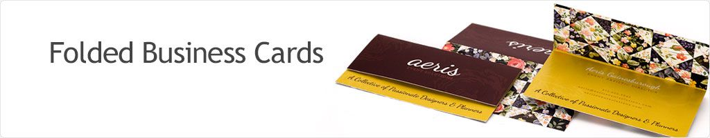 60% Off Folded Business Cards Printing