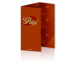 menu printing company offers trifold and letter fold menus