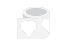 "PSD 2"" x 2"" Heart  Roll Stickers Print Layout Templates"