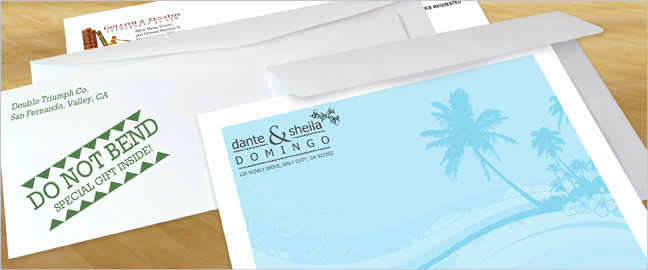 Direct-mail envelopes