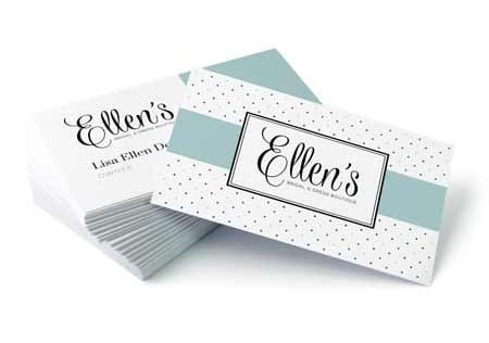 Psprint design service business card for ellens reheart Gallery