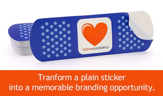 A creative die cut shape can transform a plain sticker into a fun and memorable branding opportunity that people will be proud to display on their laptops