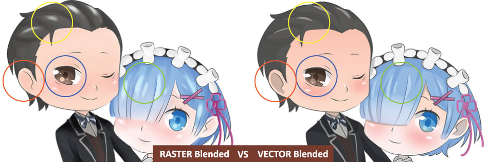 what s the difference between raster and vector resources