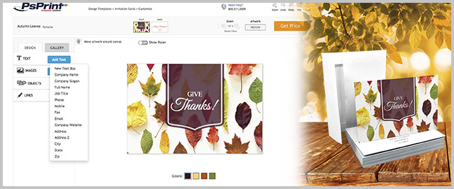 design and print your own thanksgiving invitation cards