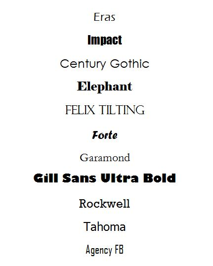 Fonts that get your business card noticed resources for What size font for business card